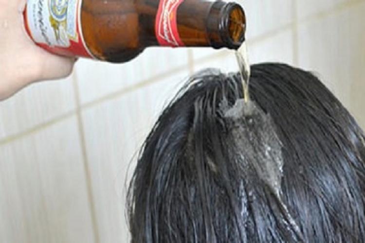 lavar os cabelos cerveja
