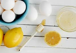mascara de limão e ovo