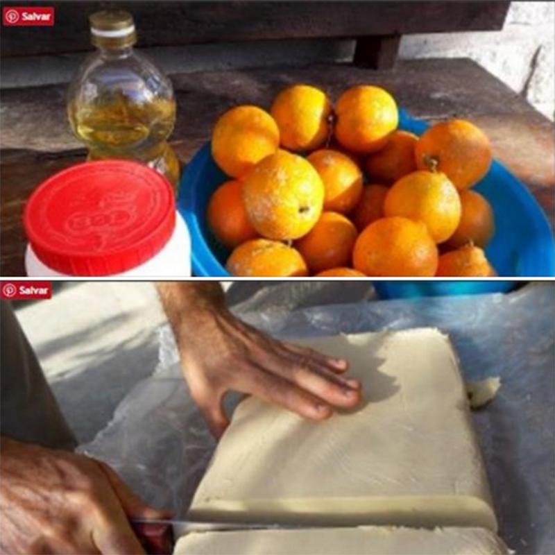 Sabão caseiro de limão um sucesso.