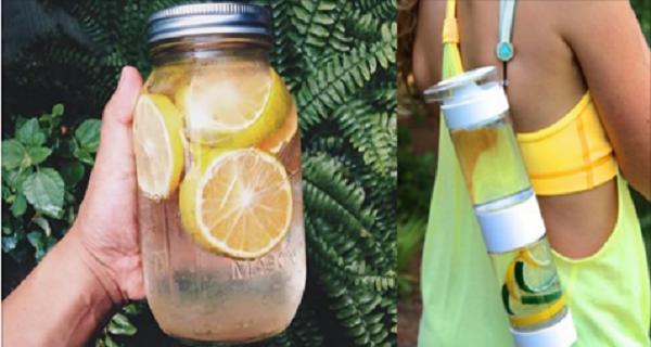 Água de mel e limão